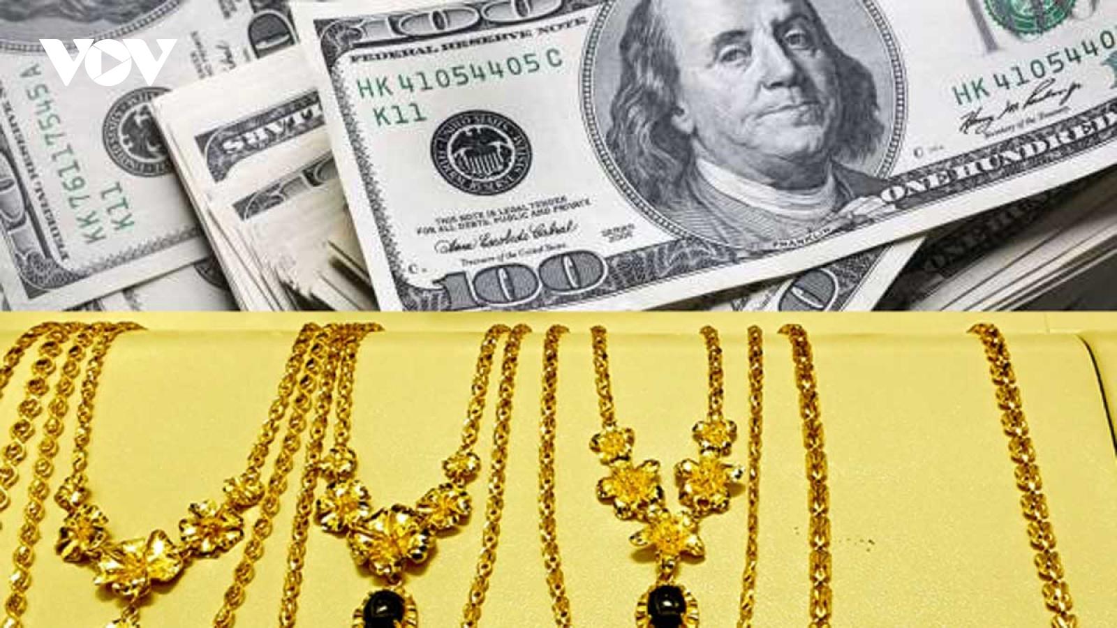 Giá vàng, tỷ giá tăng đồng loạt trong phiên giao dịch đầu tuần