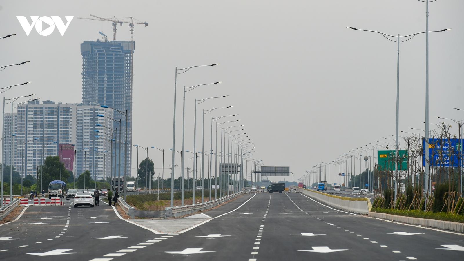 Khánh thành nút giao đường vành đai 3 với cao tốc Hà Nội-Hải Phòng