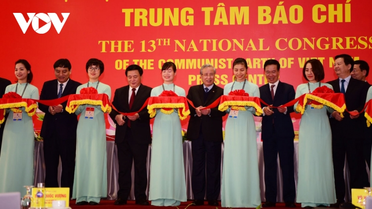 Party Congress's Press Centre opens in Hanoi