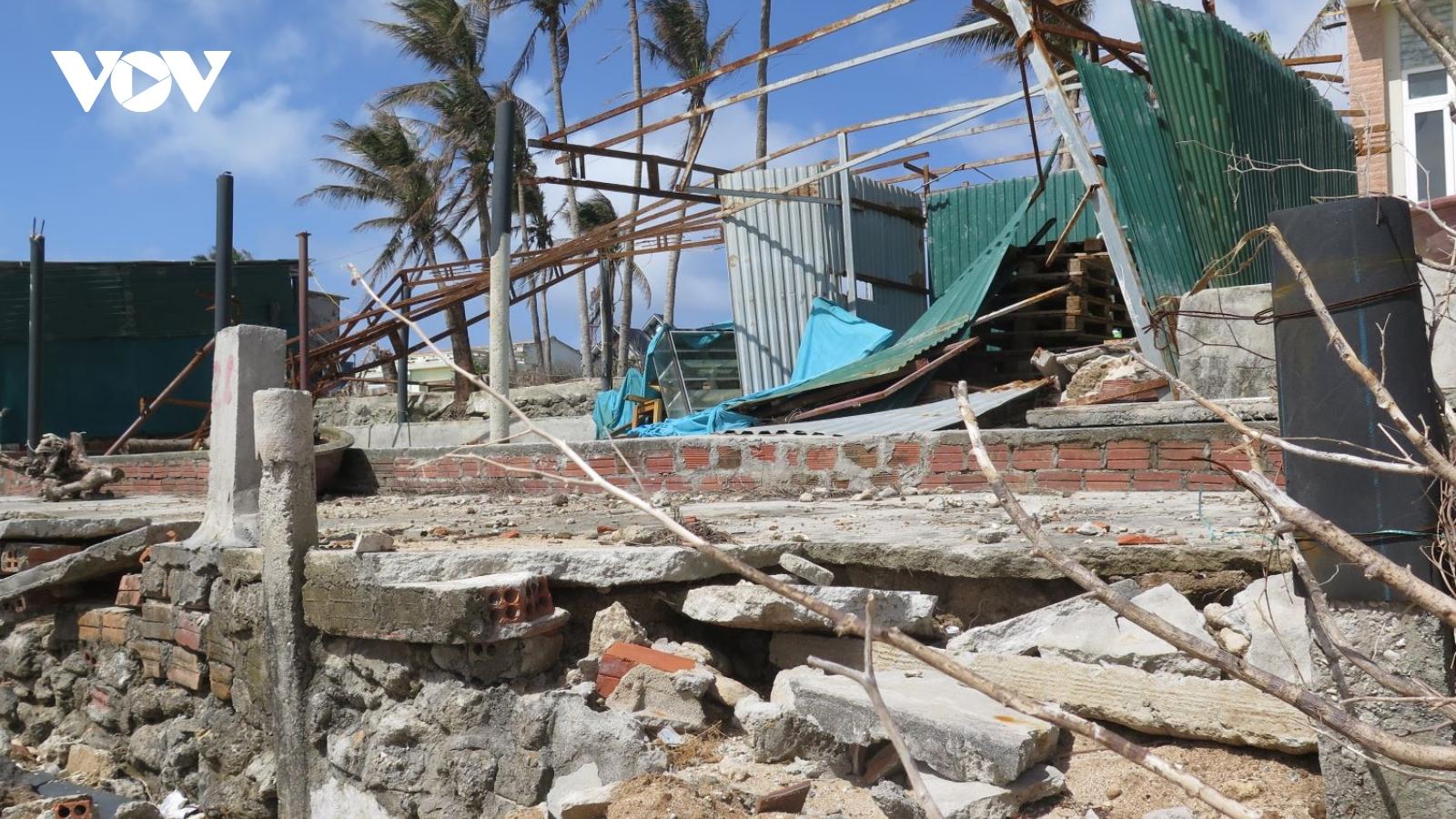 Quảng Ngãi phân bổ hơn 14 tỷ đồng xây lại nhà ở cho các hộbị ảnh hưởng bão lũ