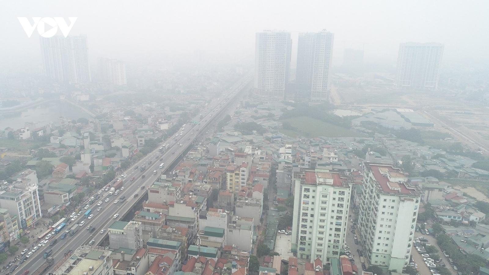 Hà Nội và các tỉnh phía Bắc tiếp tục ô nhiễm không khí nghiêm trọng