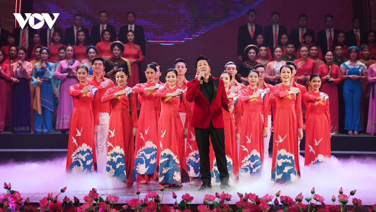 Gần 1.000 nghệ sĩ tham gia chương trình nghệ thuật chào mừng Đại hội XIII của Đảng
