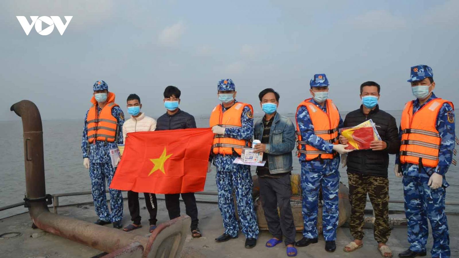Chống dịch COVID-19 trên biển cùng Vùng Cảnh sát biển 1