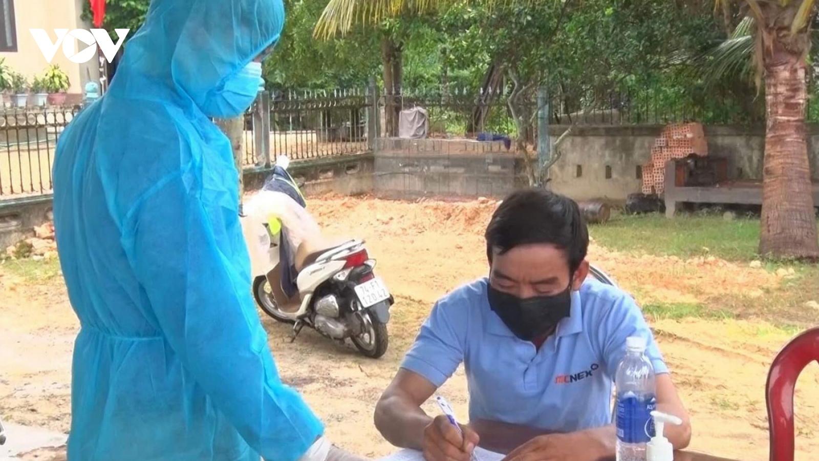 Cách ly các trường hợp ởQuảng Trịtiếp xúc với ca nhiễm Covid-19 tại tỉnh Gia Lai