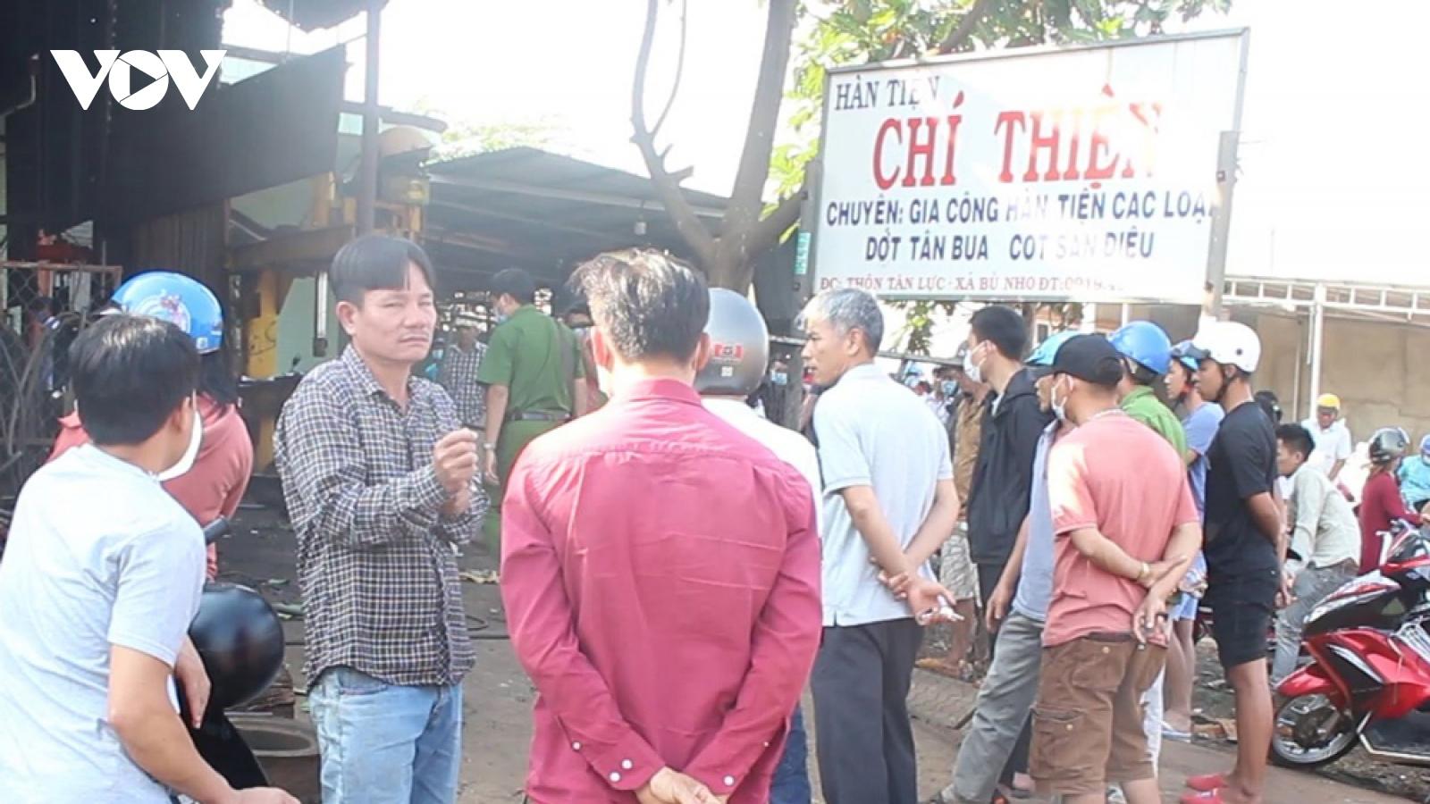 Lốp ô tô phát nổ, chủ gara ở Bình Phước tử vong tại chỗ