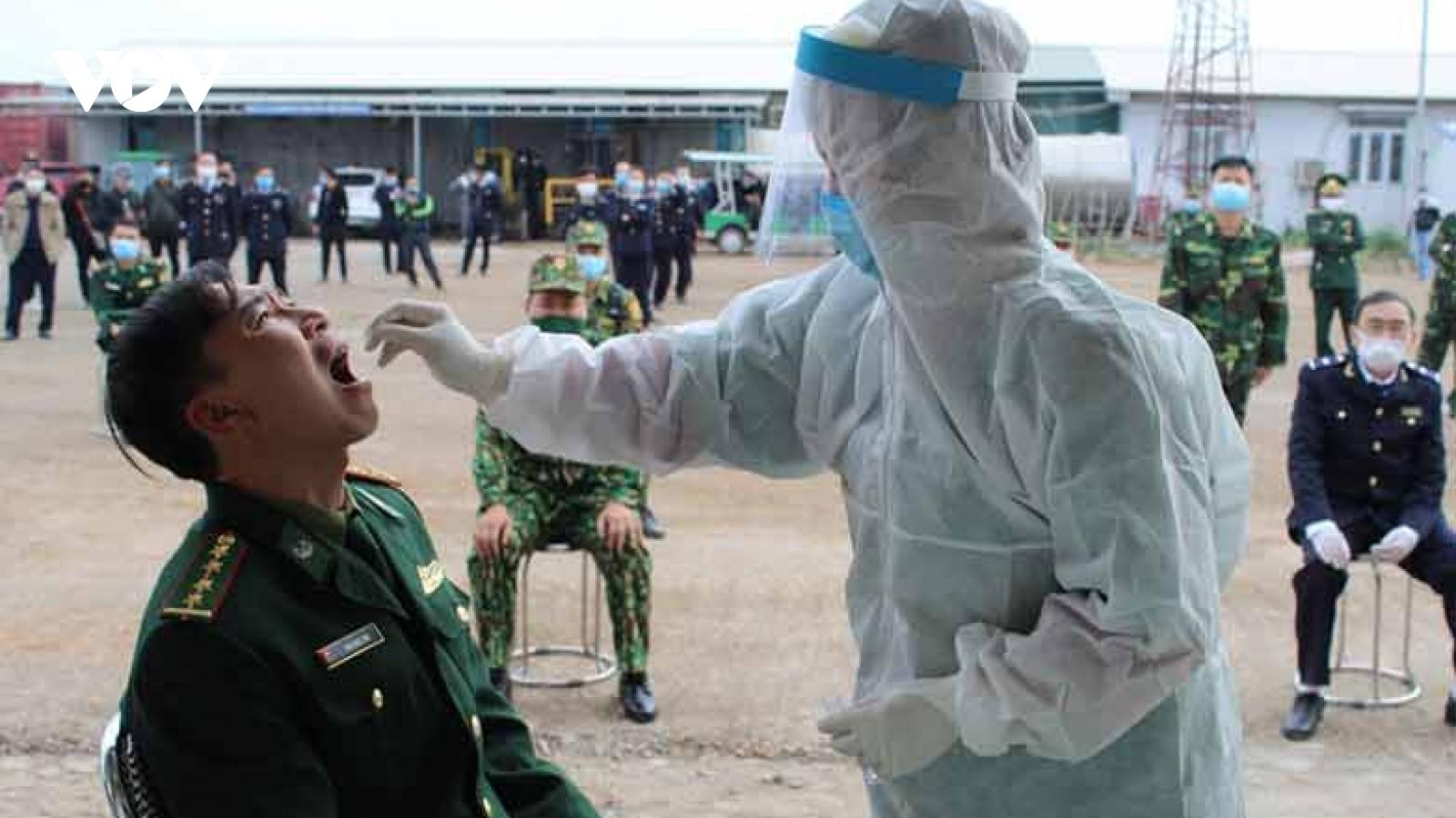 Những người làm việc ở khu vực nguy cơ cao tại TP Móng Cái đều âm tính với SARS-CoV-2