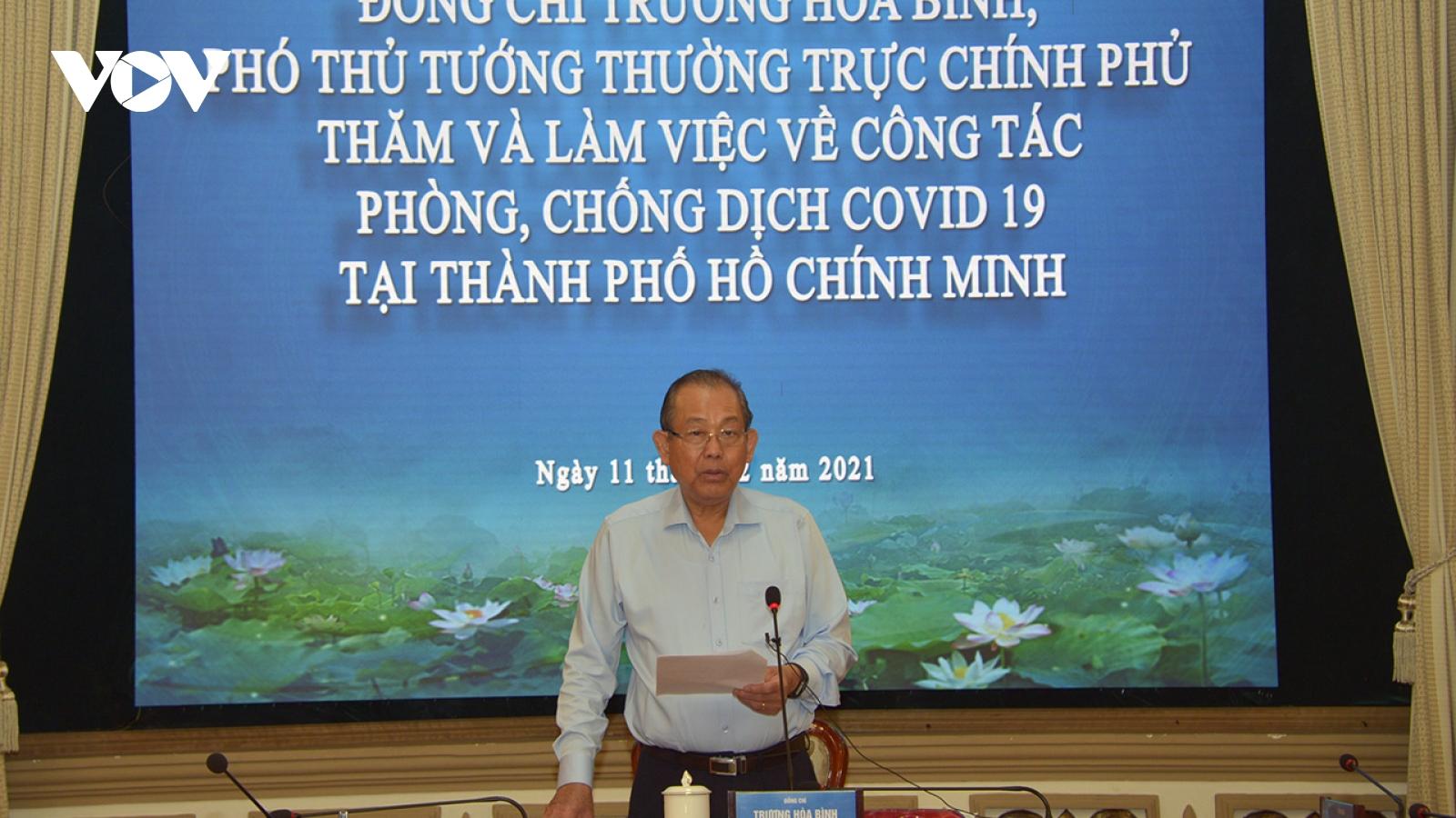 Phó Thủ tướng Trương Hoà Bình yêu cầu TP HCM không được chủ quan với dịch Covid-19