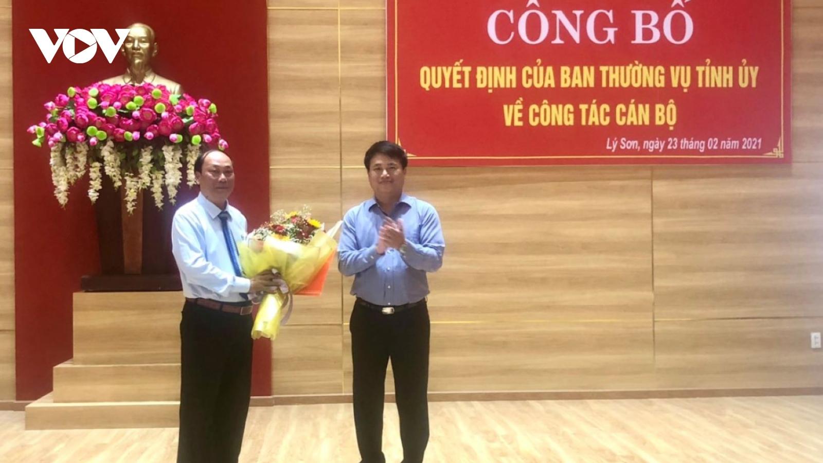 Ông Nguyễn Quốc Việt giữ chức Bí thư Huyện ủy Lý Sơn