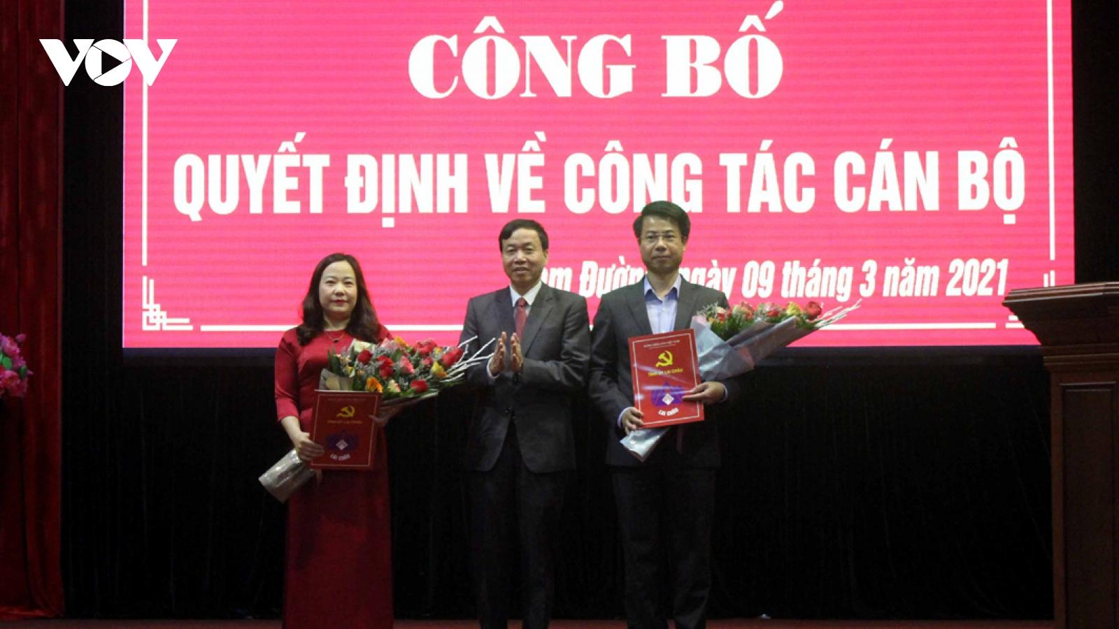 Lai Châu công bố quyết định điều động 2 bí thư huyện
