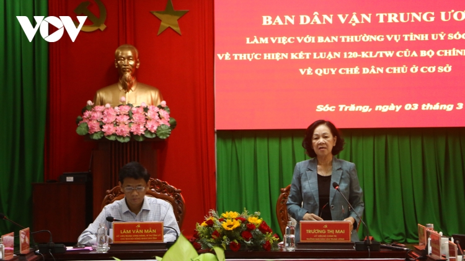Trưởng Ban Dân vận TƯTrương Thị Mai: Thực hiện quy chế dân chủ ở cơ sở phải có giám sát