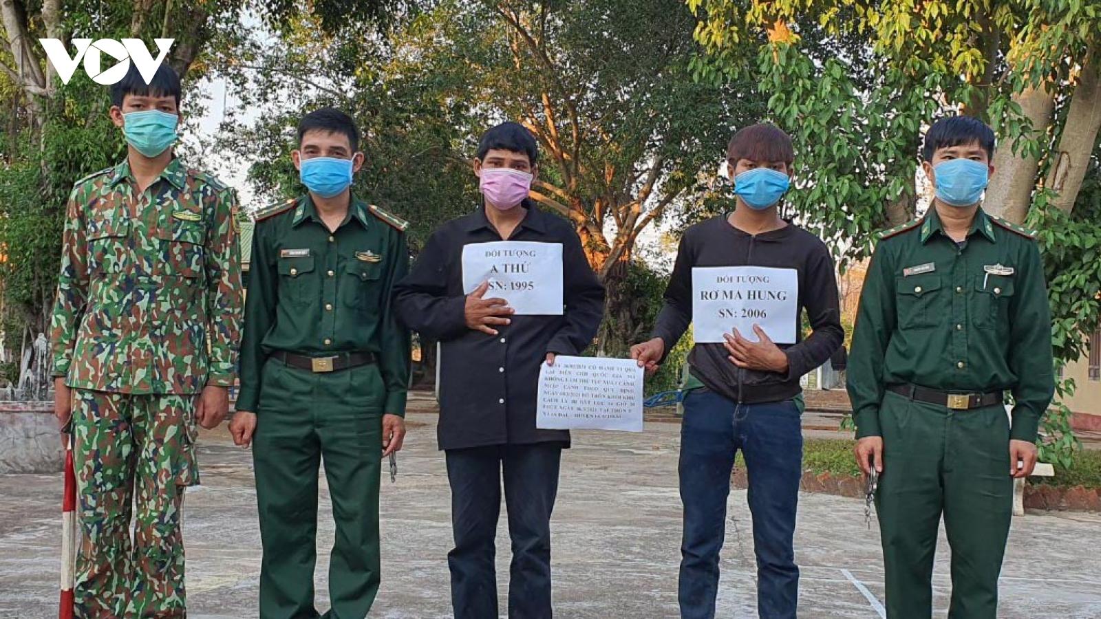 Kon Tum đã bắt được 2 đối tượng nhập cảnh trái phép và trốn khỏi khu cách ly