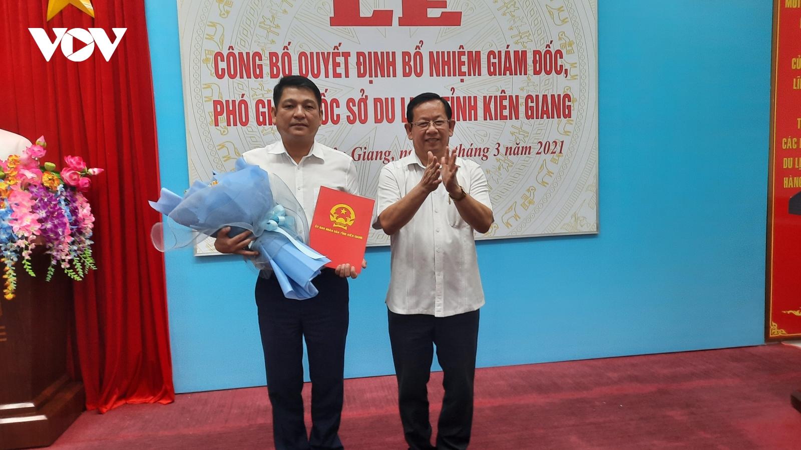 Kiên Giang bổ nhiệm Giám đốc và Phó Giám đốc Sở Du lịch tỉnh