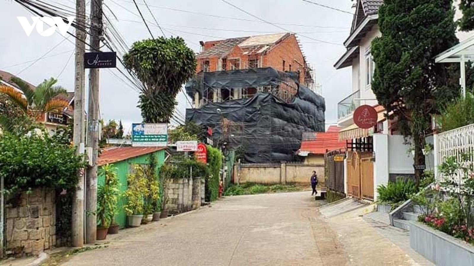 """Biệt thự """"khủng"""" xây dựng sai phép tại trung tâm Đà Lạt (Lâm Đồng)"""