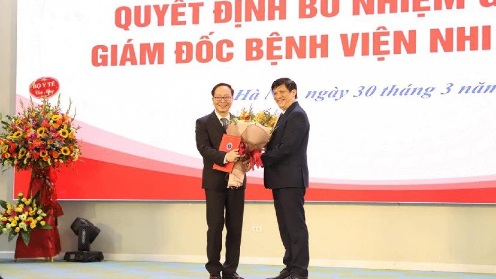 PGS.TS Trần Minh Điển được bổ nhiệm Giám đốc BV Nhi Trung ương