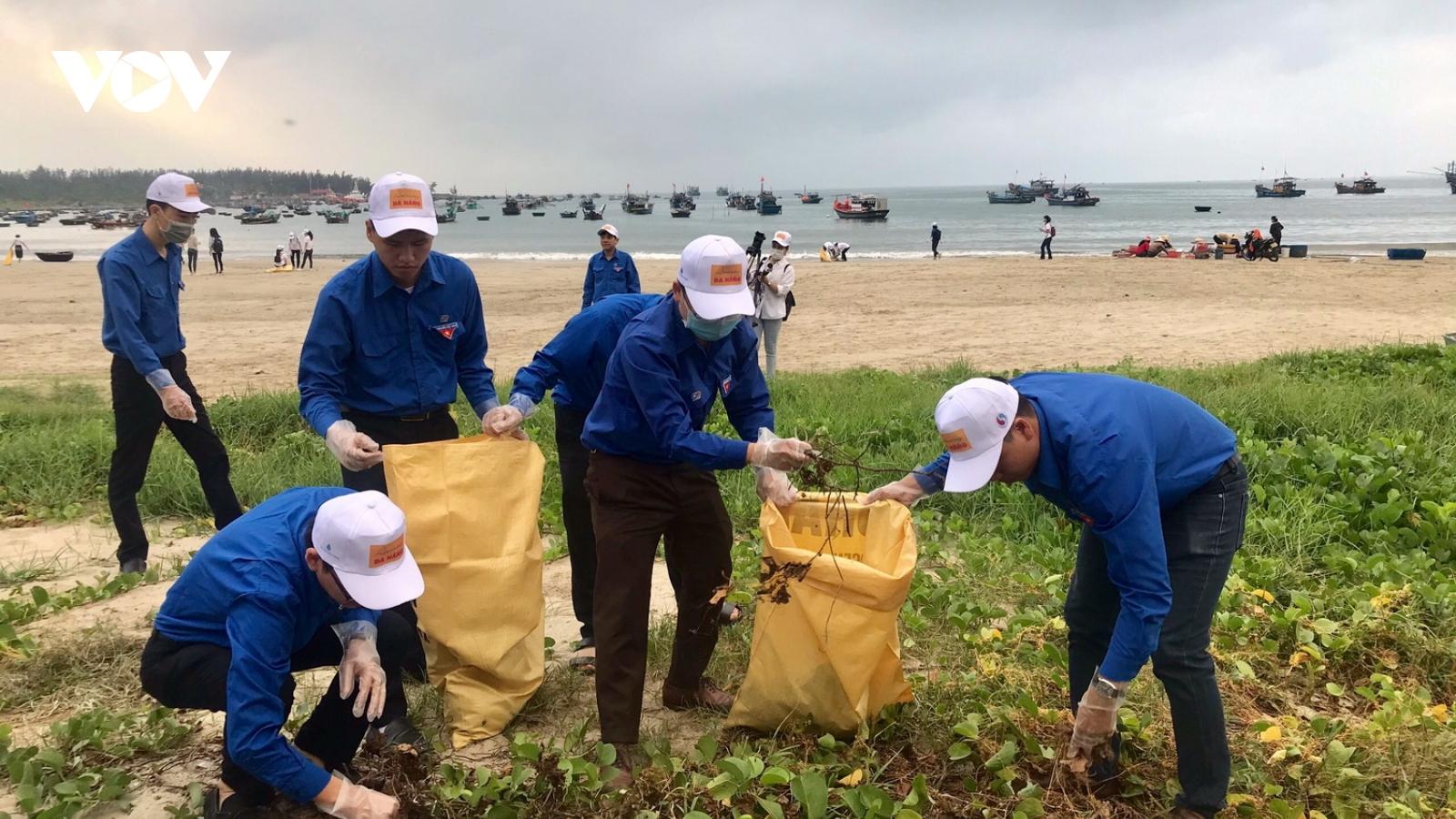 Đà Nẵng dọn sạch bờ biển đón khách du lịch