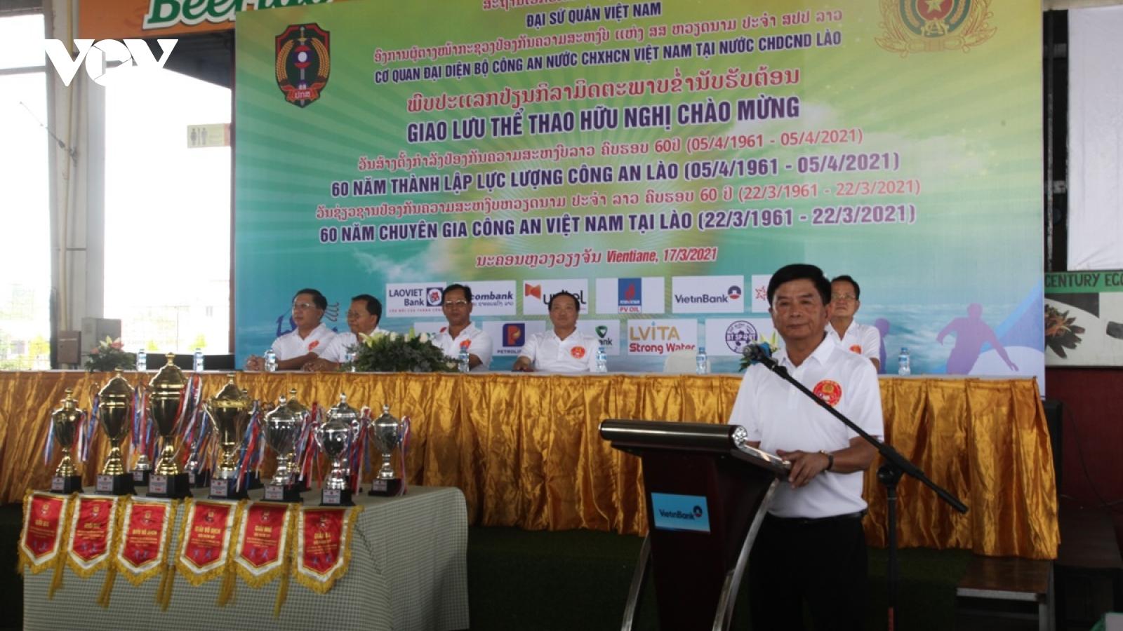 Giao lưu thể thao kỷ niệm 60 năm chuyên gia Công an Việt Nam tại Lào
