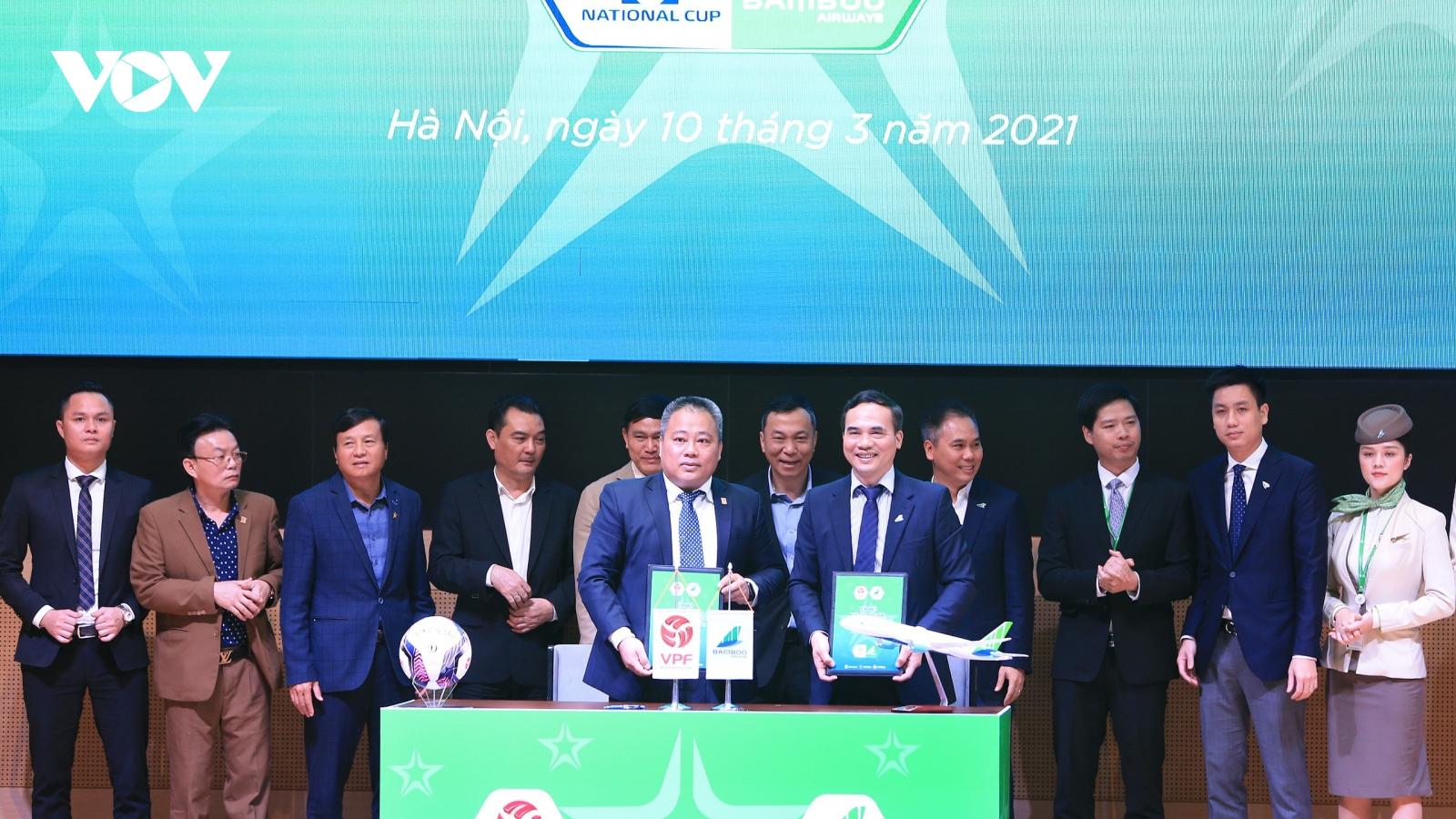 Cúp Quốc gia 2021 đón nhà tài trợ chính quen thuộc