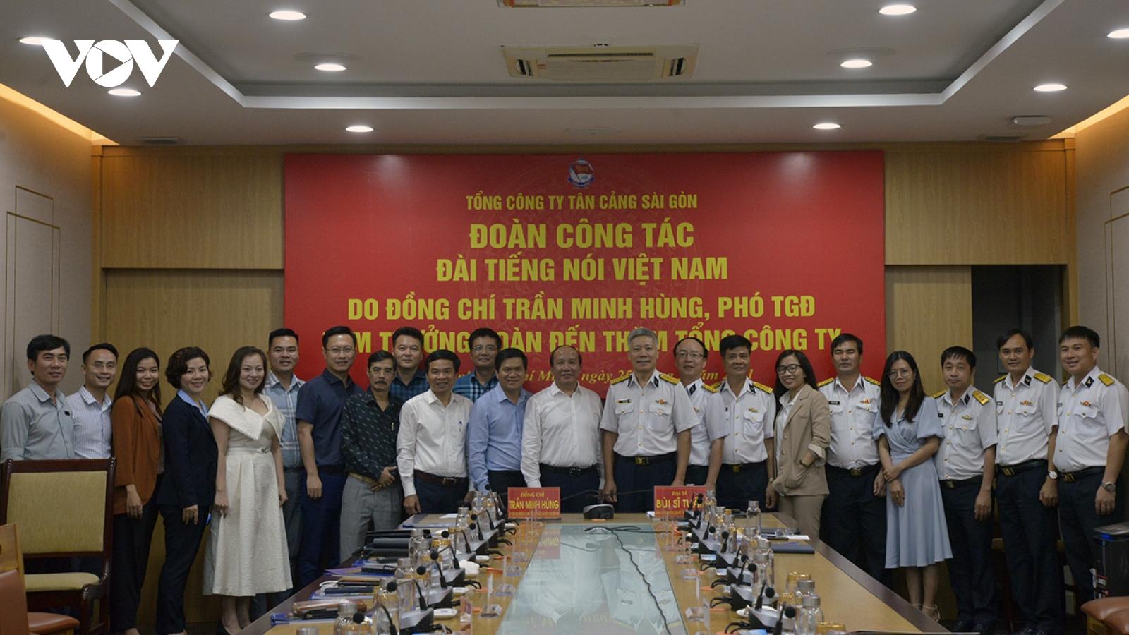 Đoàn công tác VOV làm việc với Tổng Công ty Tân Cảng Sài Gòn