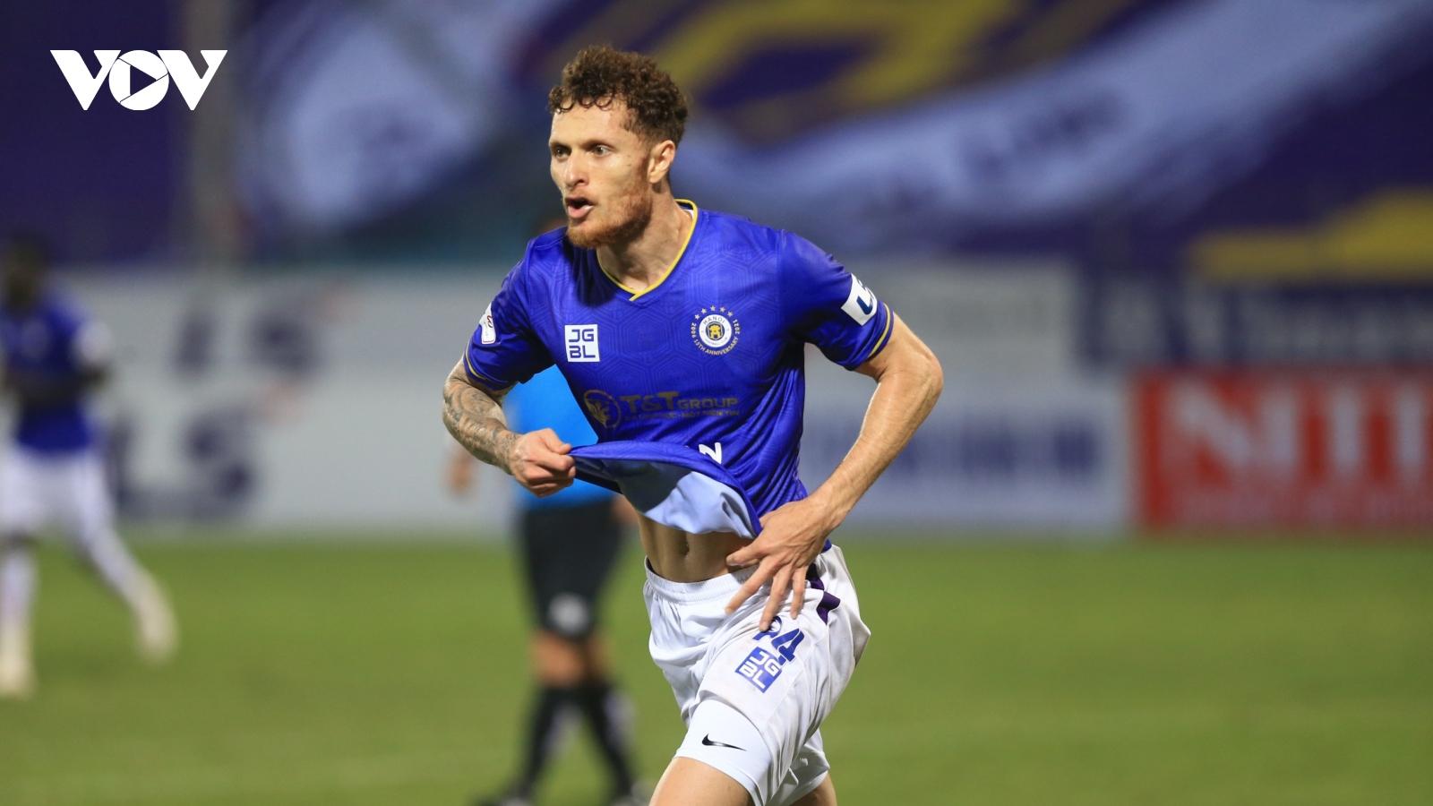 Geovane ghi bàn phút cuối, Hà Nội FC nhọc nhằn giành 1 điểm trước Hà Tĩnh