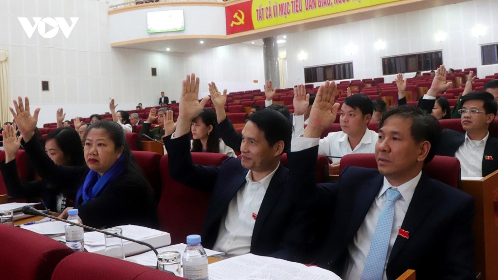 HĐND tỉnh Lai Châu thông qua 8 Nghị quyết quan trọng