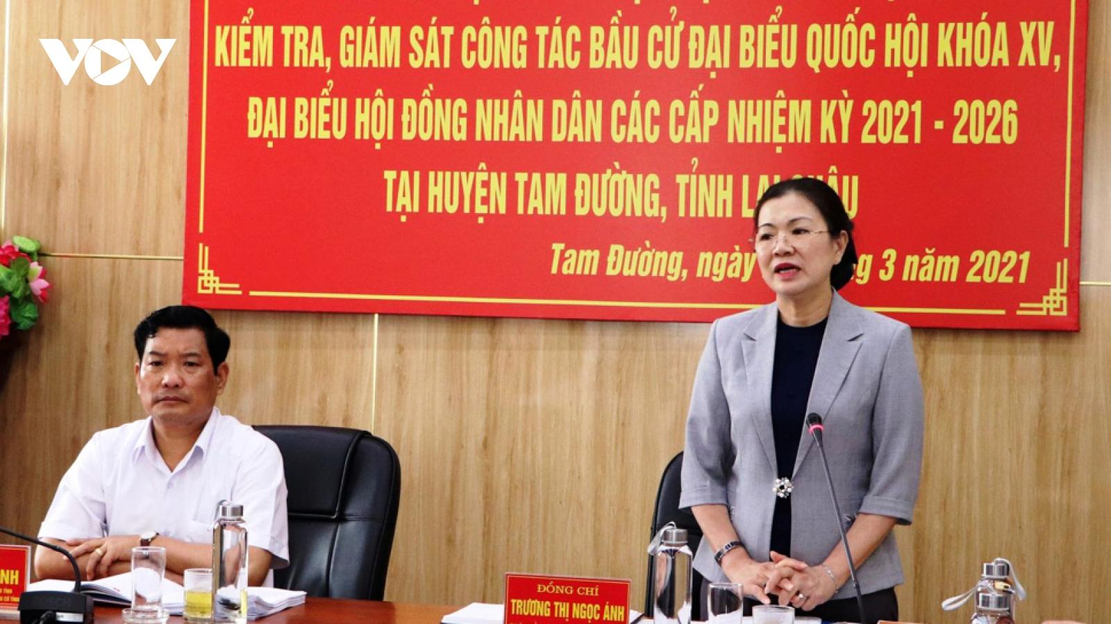 Phó Chủ tịch Ủy ban T.Ư MTTQ Việt Nam kiểm tra công tác bầu cử tại Lai Châu