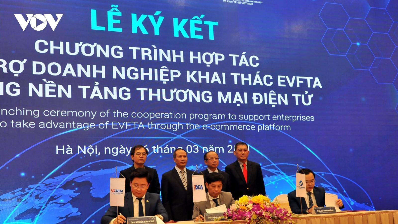 Tận dụng tốt cơ hội từ EVFTA bằng nền tảng thương mại điện tử