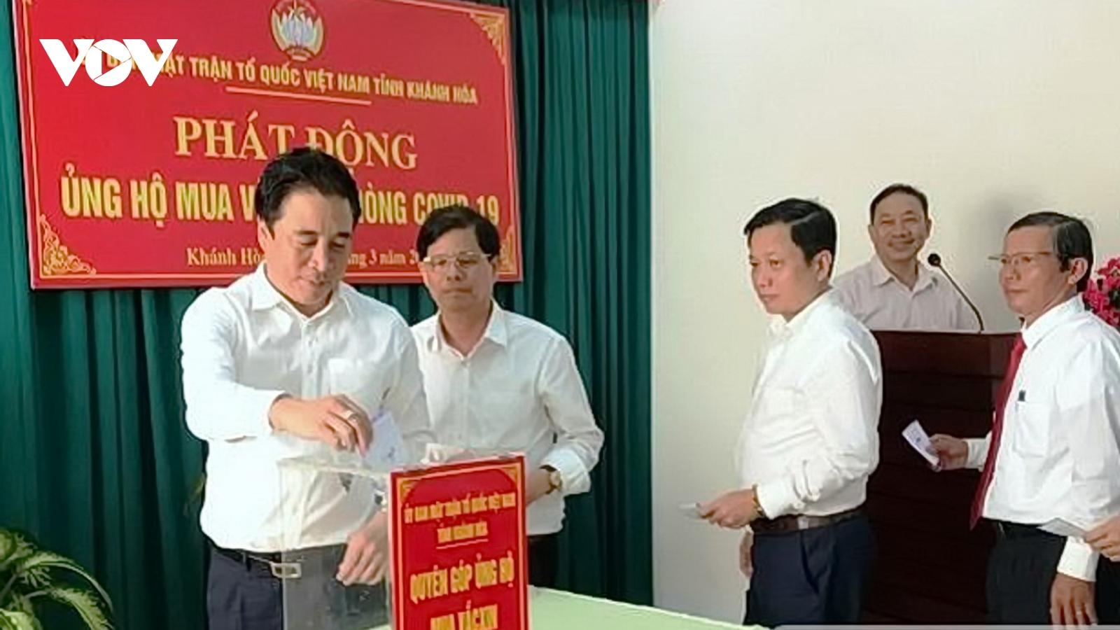 Khánh Hòa tiếp nhận hơn 6,3 tỷ đồng ủng hộ mua vaccinephòng Covid-19