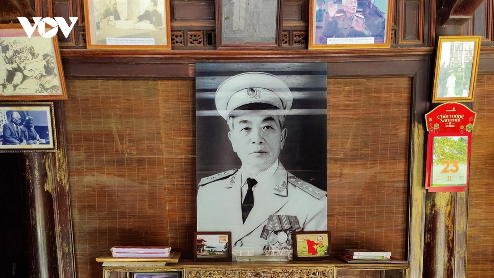 Quảng Bình chuẩn bị kỷ niệm 110 năm Ngày sinh Đại tướng Võ Nguyên Giáp