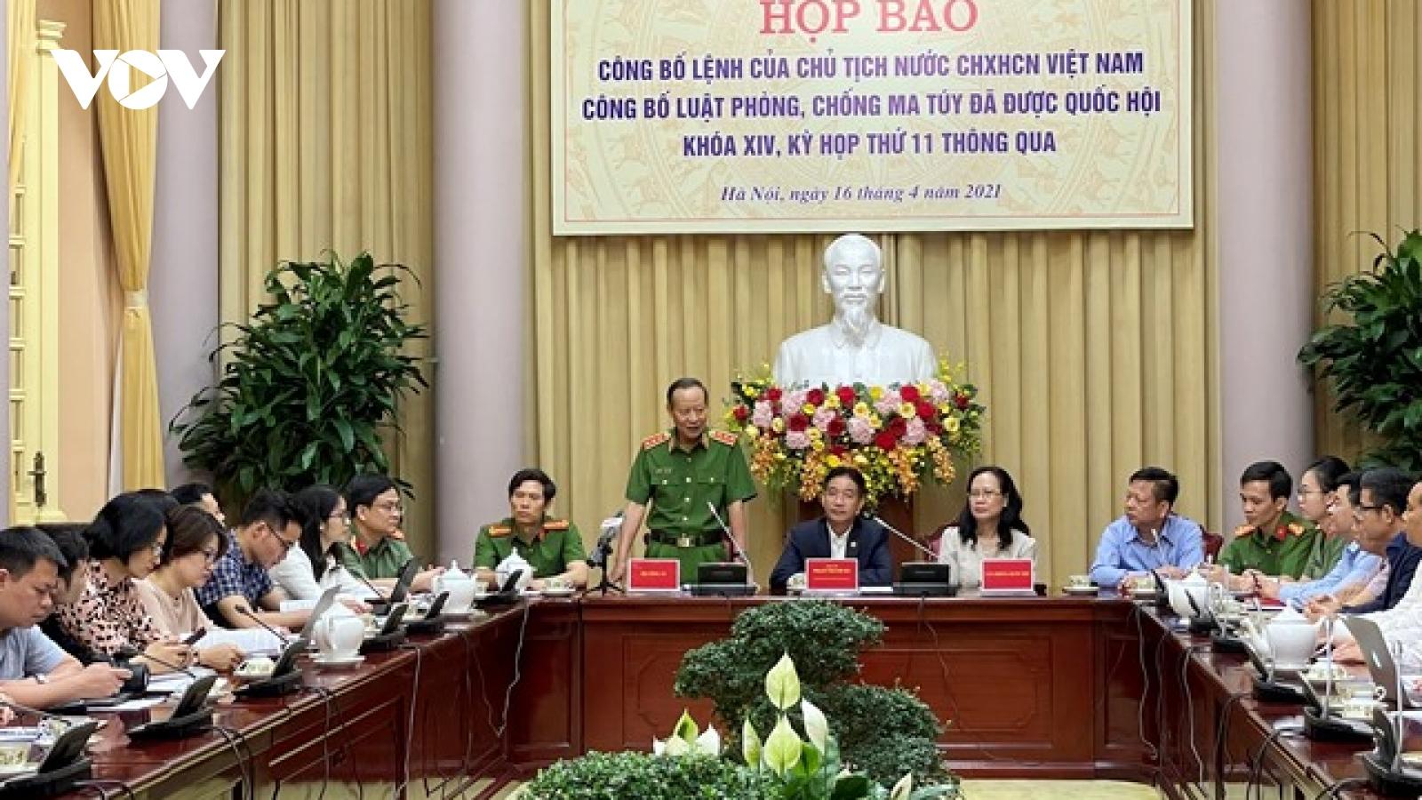 Công bố Luật Phòng, chống ma túy: Quy định thêm một số hành vi nghiêm cấm