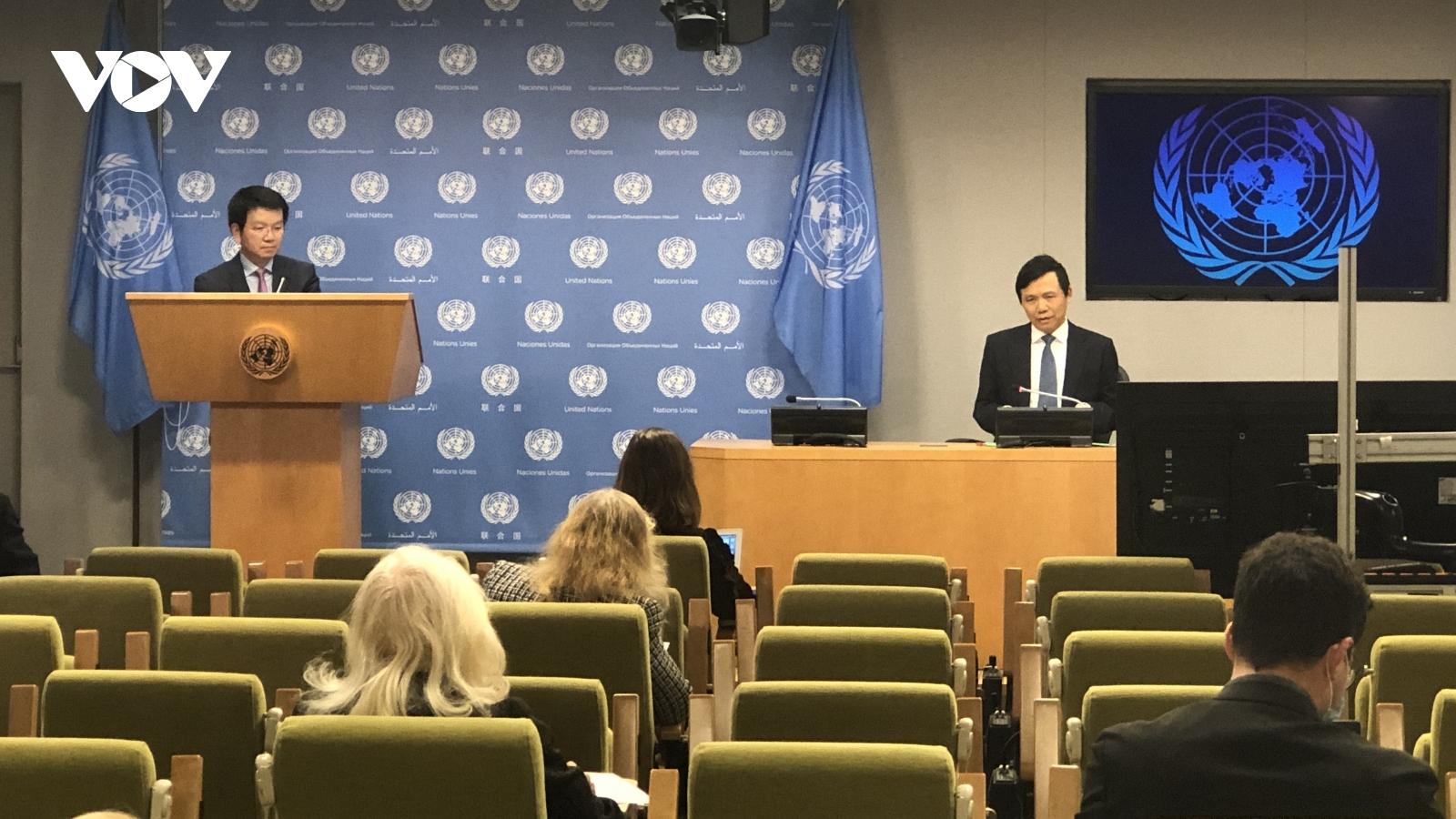Việt Nam tiến hành các hoạt động chính thức trên cương vị Chủ tịch Hội đồng Bảo an LHQ