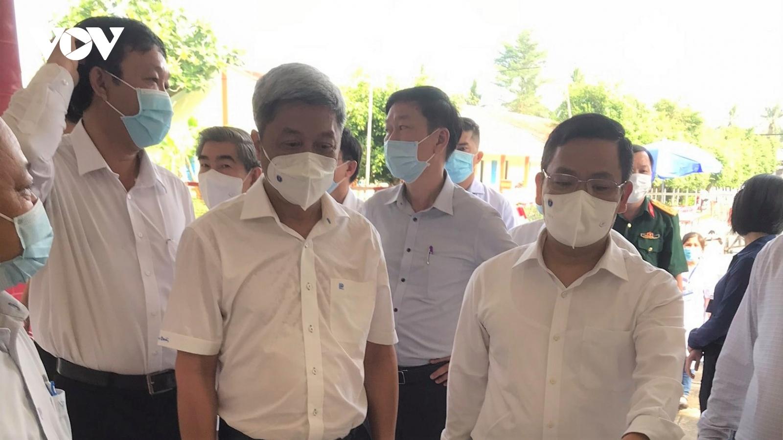 Bộ Y tế kiểm tra công tác phòng chống dịch bệnh Covid-19 ở Tiền Giang