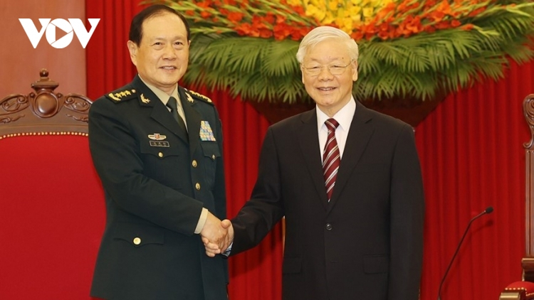 Party leader welcomes Chinese Defence Minister