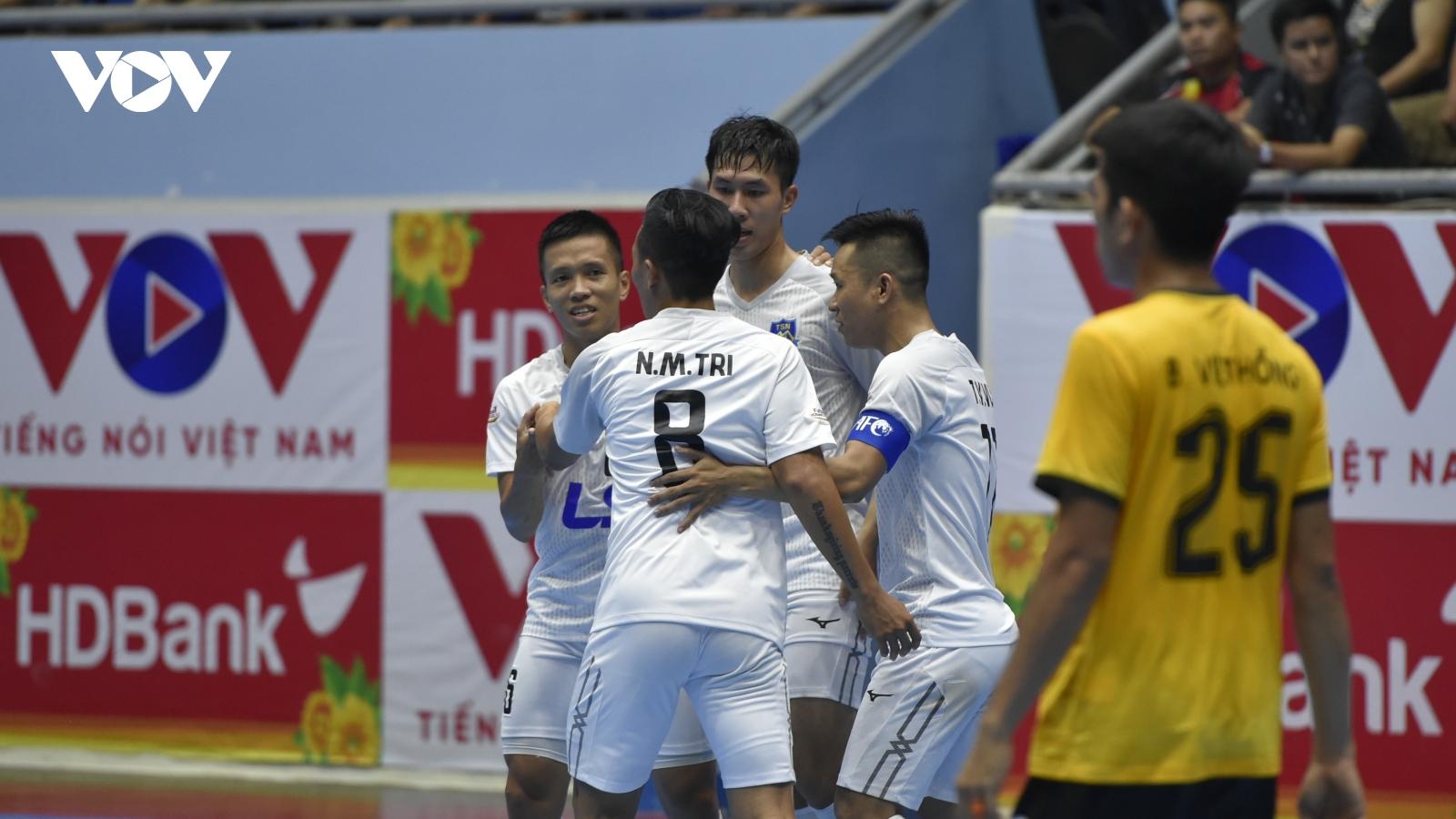 Giải Futsal HDBank VĐQG 2021: Thái Sơn Bắc và Thái Sơn Nam thắng nhọc