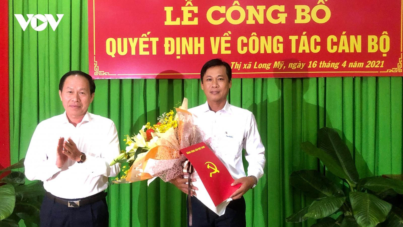 Ông Võ Văn Trung giữ chứcBí thư Thị ủy Long Mỹ, tỉnh Hậu Giang