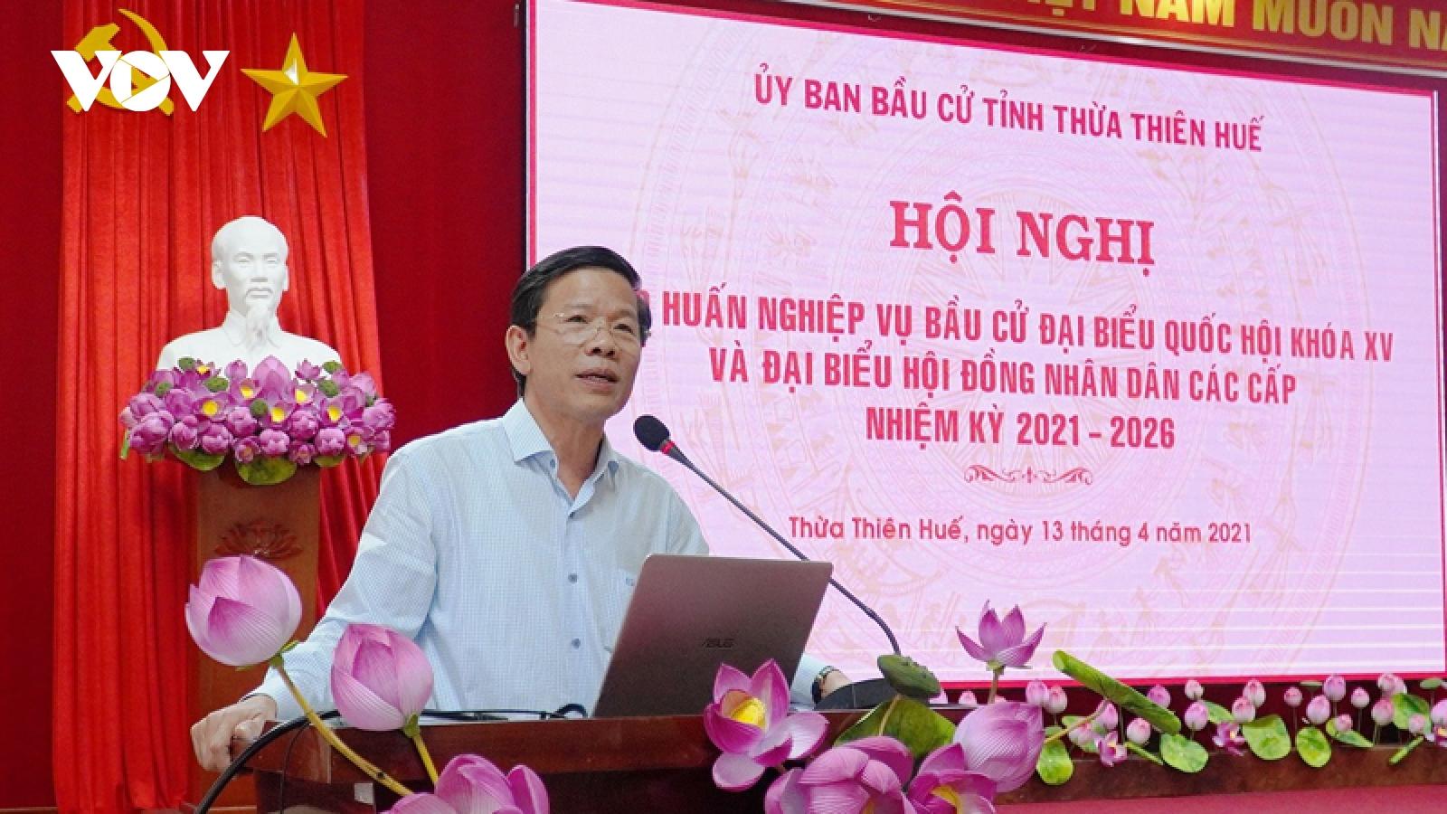 Dự kiến ngày 16/4, Thừa Thiên Huế tổ chức Hội nghị hiệp thương lần 3