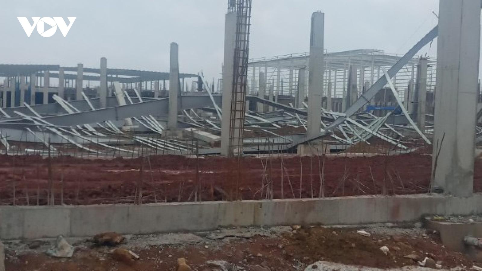 Đổ sập công trình Khu nhà xưởng dệt kim Texhong ở Quảng Ninh
