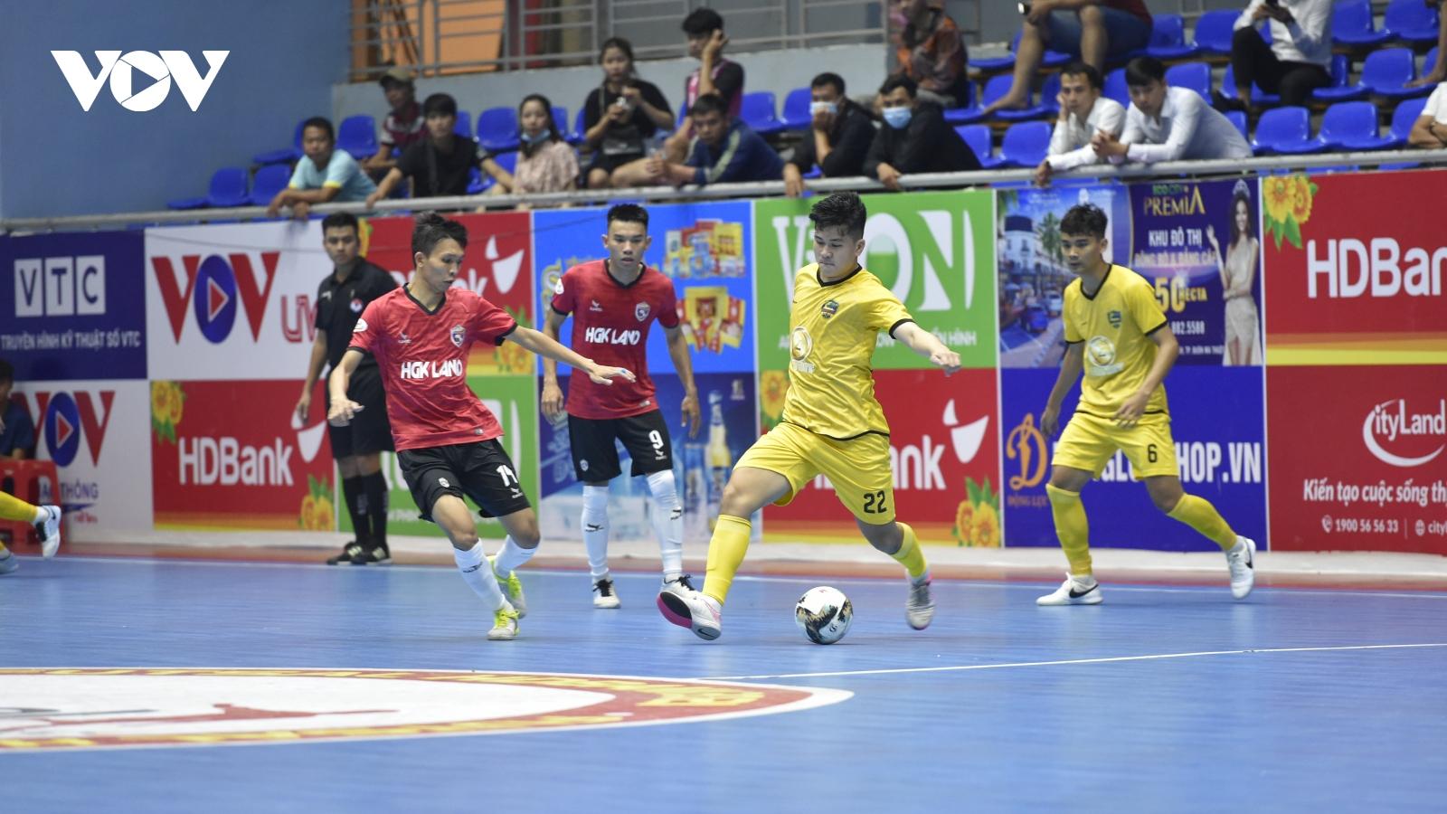 Giải Futsal HDBank VĐQG 2021: Chủ nhà Hưng Gia Khang Đắk Lắk thất bại đáng tiếc