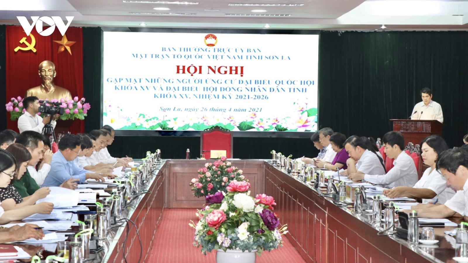 Sơn La gặp mặt người ứng cử đại biểu Quốc hộivà HĐND tỉnh