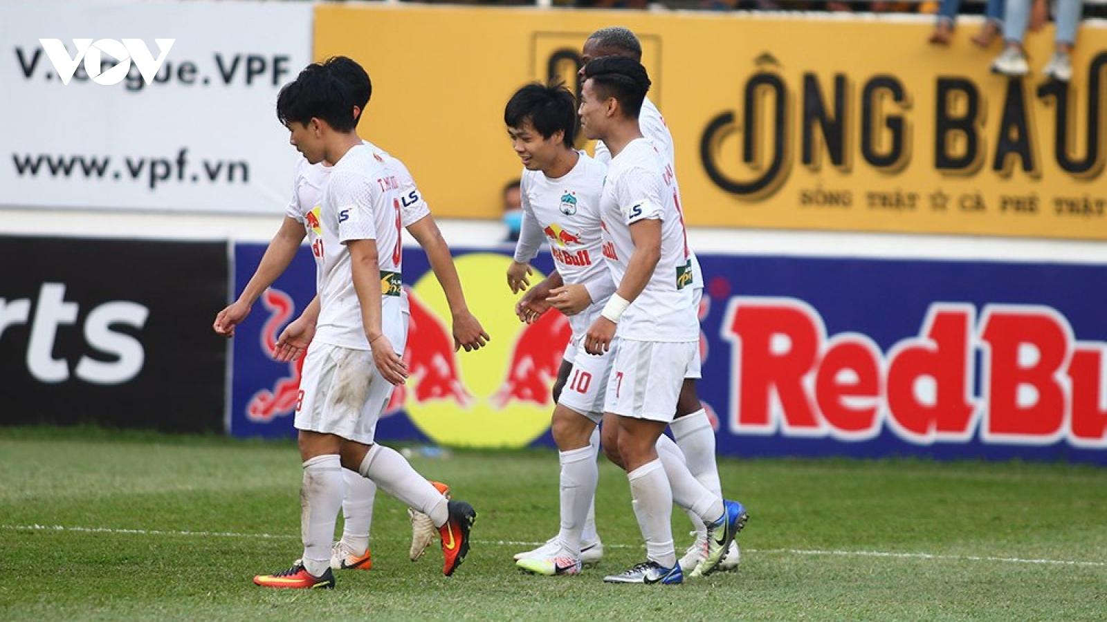 Vòng 7 V-League 2021: Hà Nội FC gặp khó, HAGL tiếp tục thăng hoa?