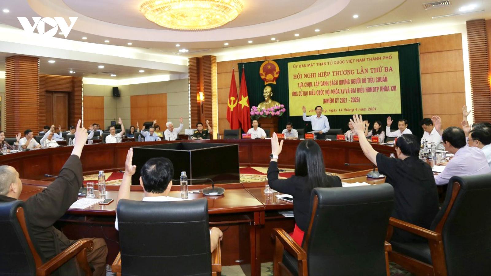 Hải Phònggiới thiệu 15 người ứng cử Đại biểu Quốc hội khóa XV