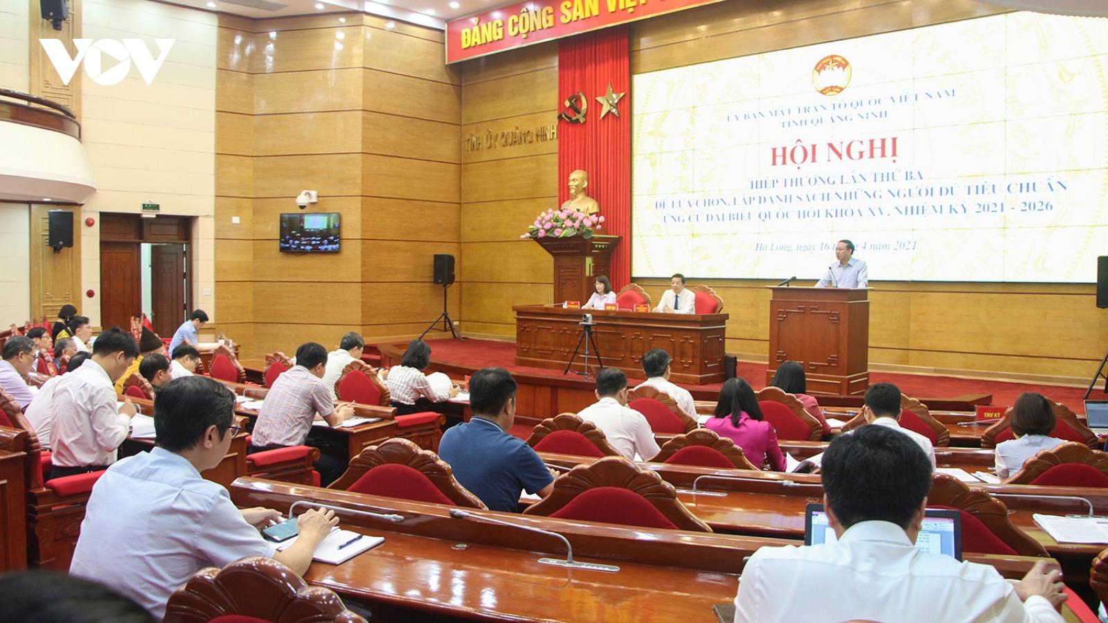 Quảng Ninh có 10 người ứng cử Đại biểu Quốc hội, gấp 2,5 lần số người được bầu