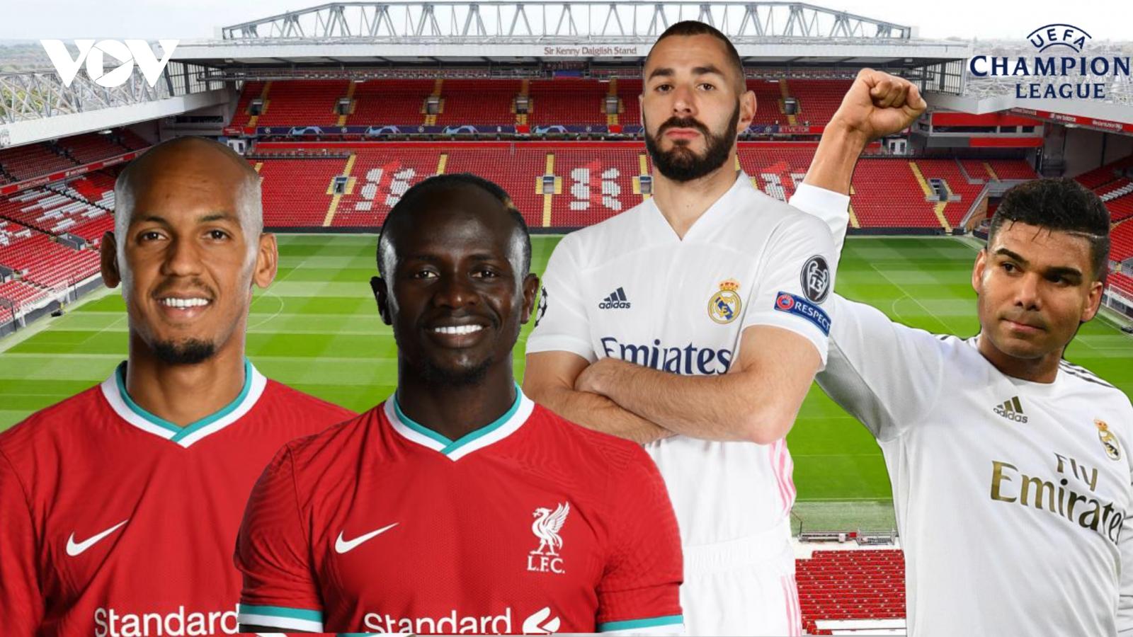 Dự đoán kết quả, đội hình xuất phát trận Liverpool – Real Madrid