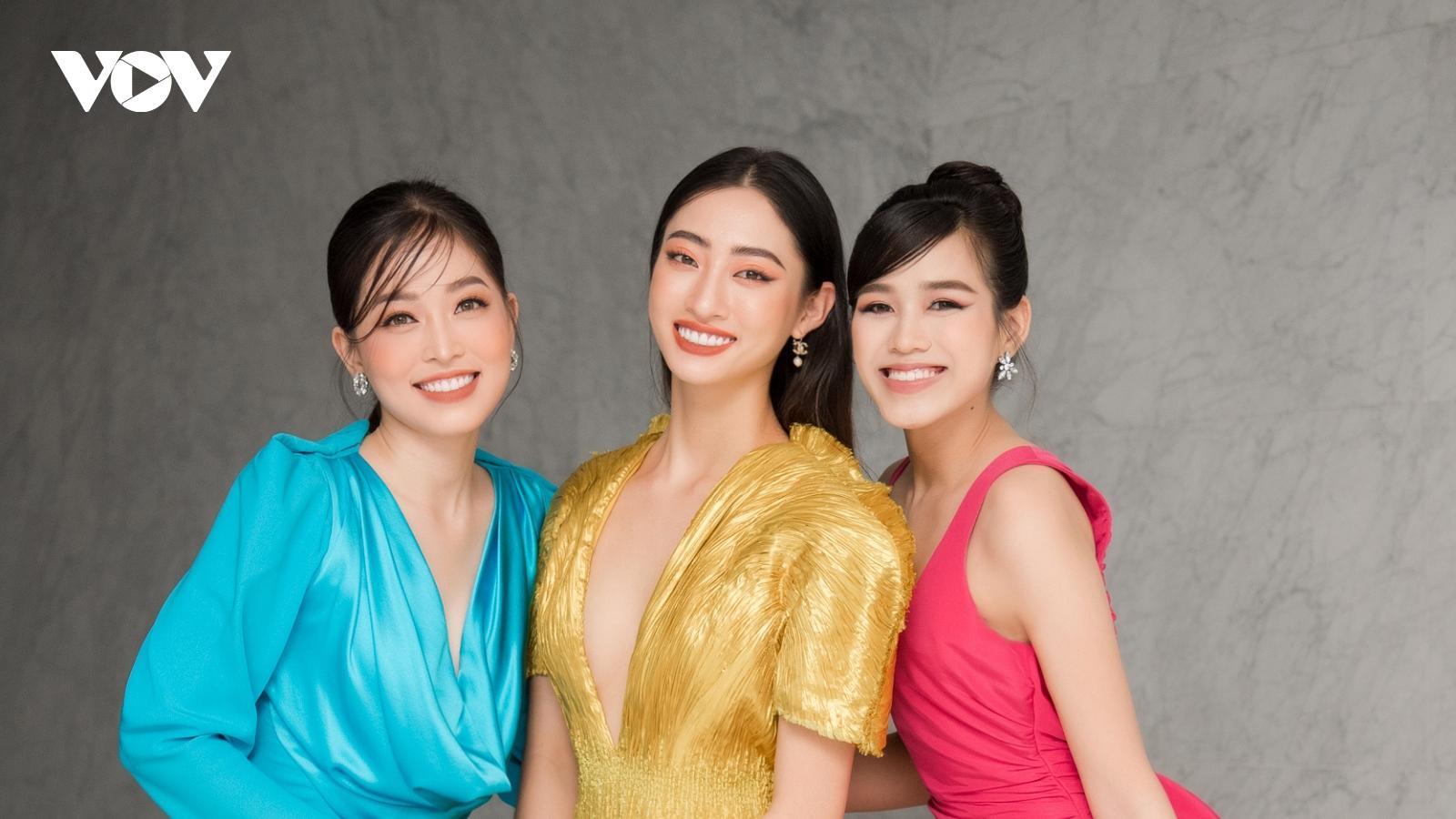 Lương Thuỳ Linh diện váy xẻ ngực táo bạo bên Bùi Phương Nga, Đỗ Thị Hà