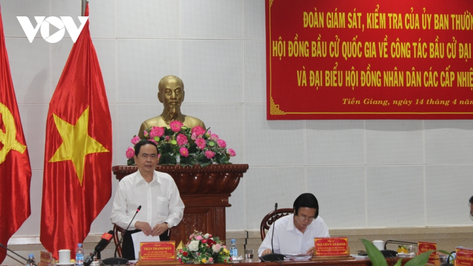 Ông Trần Thanh Mẫn: Công tác bầu cử tại Tiền Giang phải thật sự là Ngày hội của toàn dân