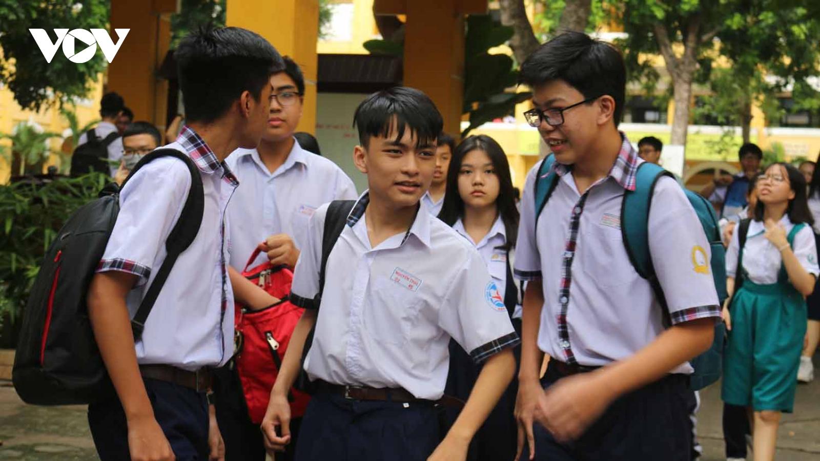 TP HCM công bố lịch thi tuyển sinh vào lớp 10