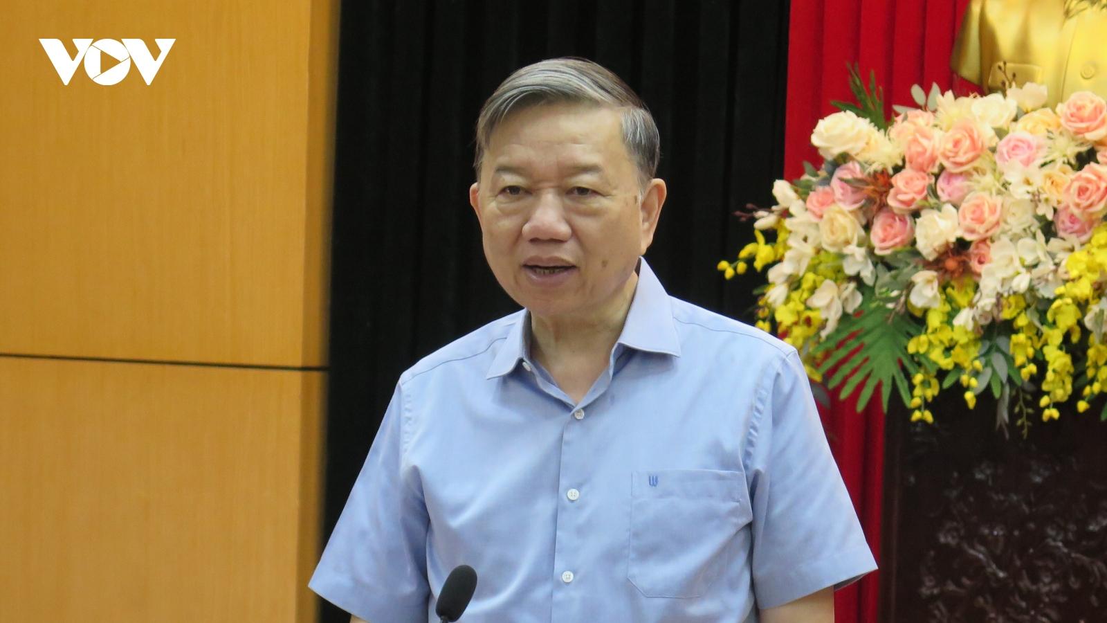 Đại tướng Tô Lâm: Đấu tranh phản bác luận điệu sai trái về bầu cử