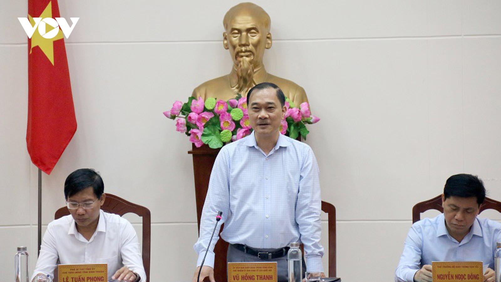 Đoàn công tác Ủy ban Kinh tế Quốc hội làm việc với tỉnh Bình Thuận
