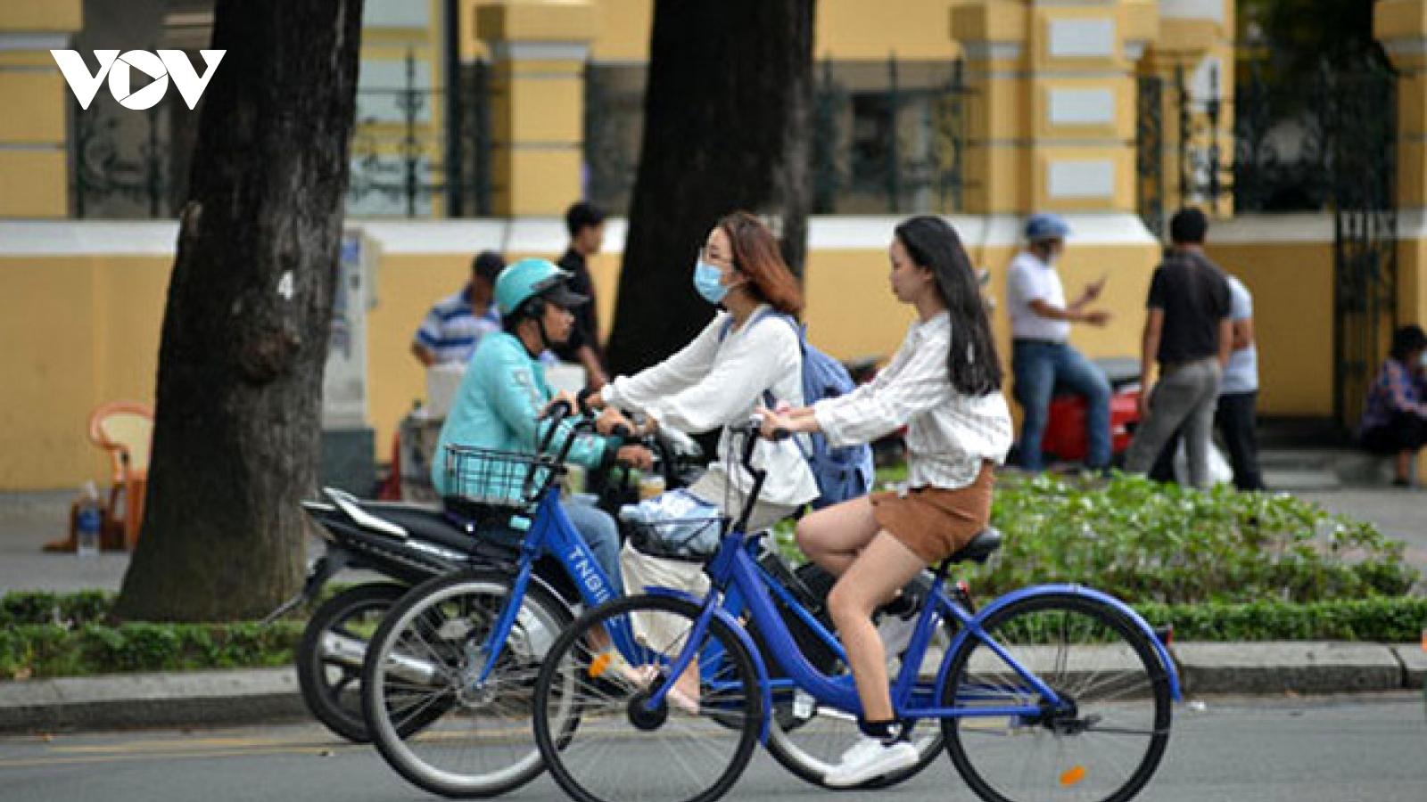 TP. HCM triển khai thí điểm xe đạp công cộng trên địa bàn Quận 1