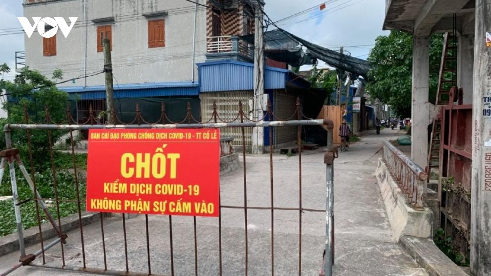 Nam Định phong toả một xóm vì có ca nghi mắc COVID-19 liên quan BV Bệnh nhiệt đới TW