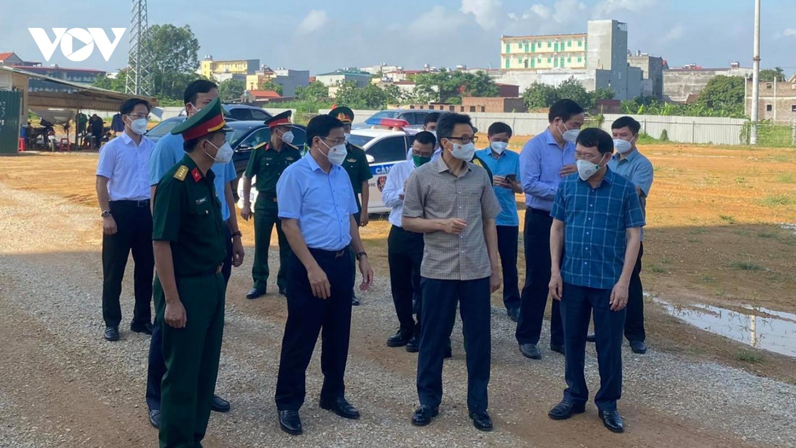 Phó Thủ tướng Vũ Đức Đam nêu 4 yêu cầu chống dịch tại Bắc Giang